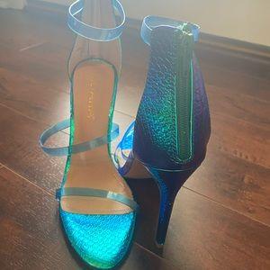 Liliana Mermaid Snakeskin Strappy Heels